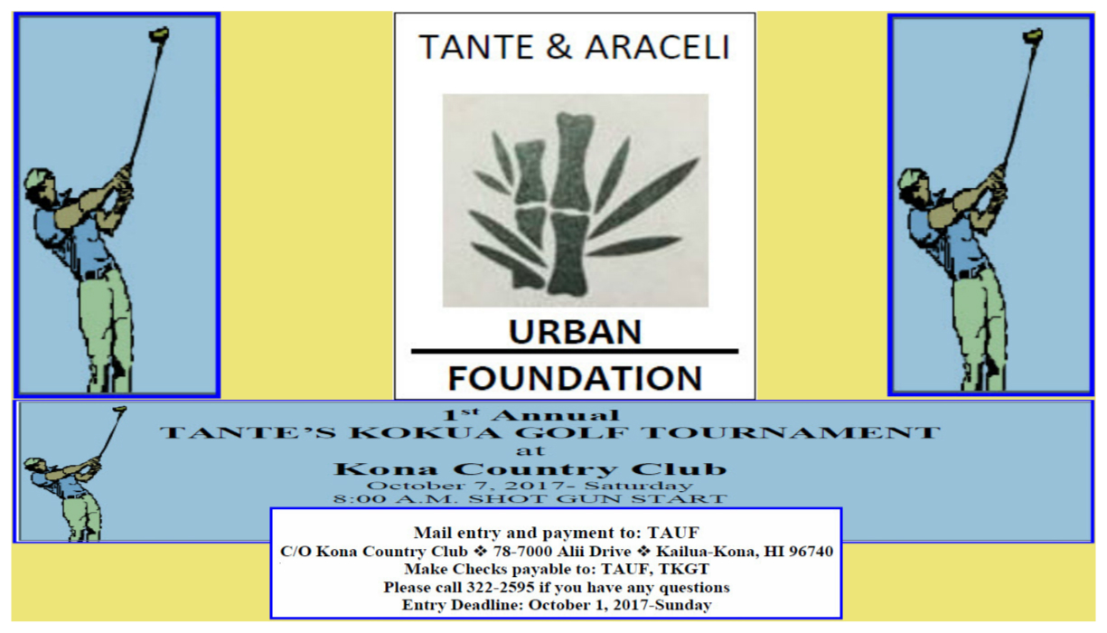 Tante & Araceli Urban Foundation 1st Annual Golf Tournament Logo