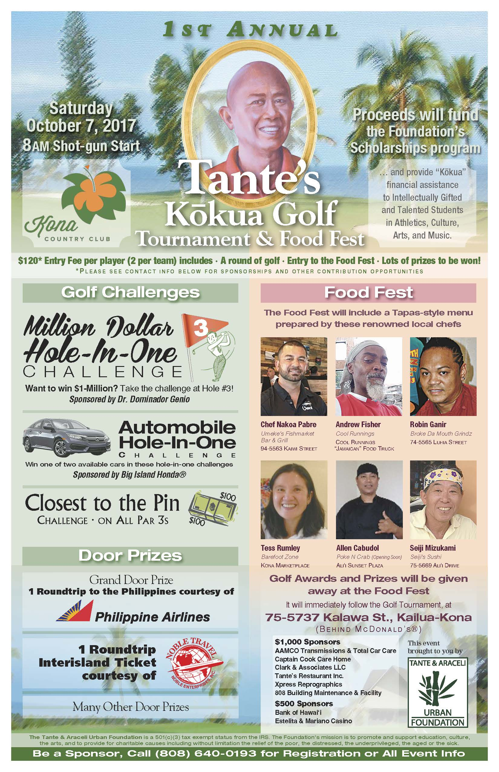 Tante and Ariceli Urban Foundation 1st Annual Golf Tournament